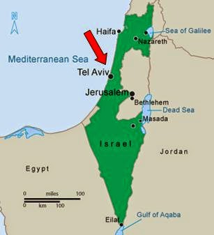 Image result for tel aviv map israel