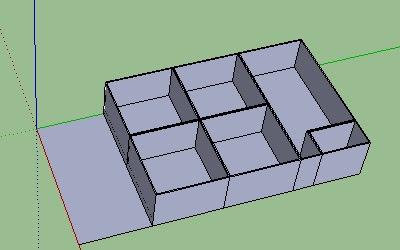 Cara Membuat Lantai dan Dinding pada Google SketchUp-6