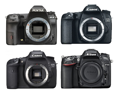 Pentax K-3 vs Canon 70D vs Nikon D7100, HDR features, digital filter, Full HD Video