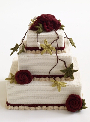 The Createry Shop: Knitted Cake - A Lionbrand Knitting Pattern