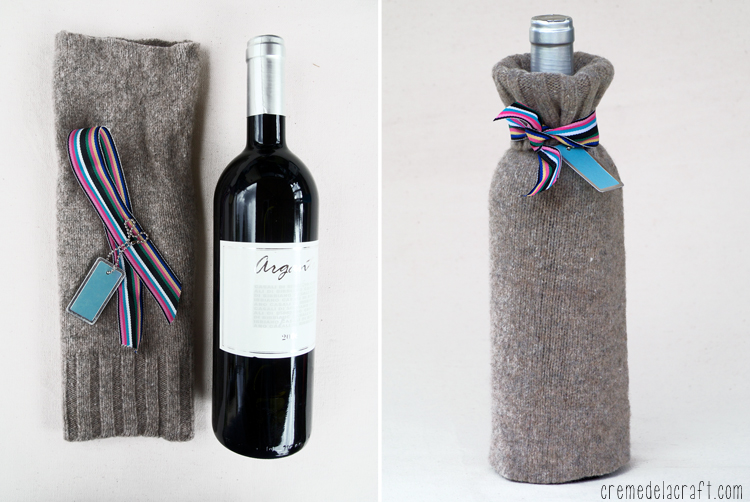 Diy wine bottle wrap 3 ways for Things made from wine bottles