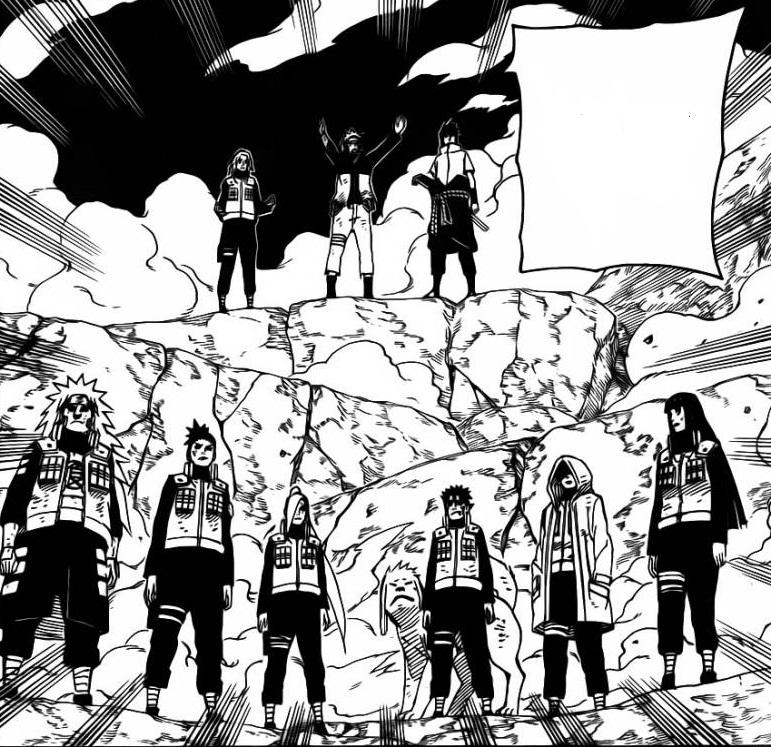 """Di kejauhan, Juugo memperhatikan Sasuke, """"Sasuke…apa yang"""