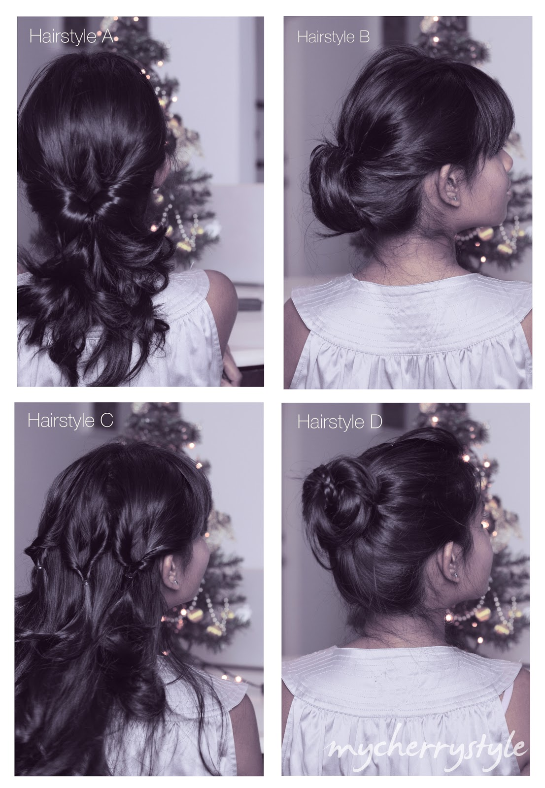 Day 4 Project ELF Four Quick Hairdos My Cherry Style