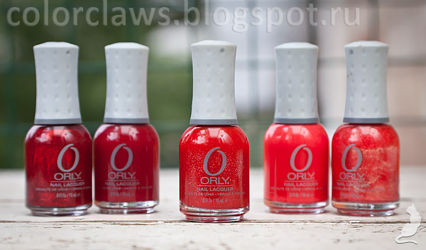 Orly Star Spangled, Ignite, Red Carpet, Siren, Ruby Passion