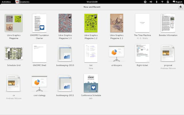 Nuevo diseño de las aplicaciones en Gnome 3.4
