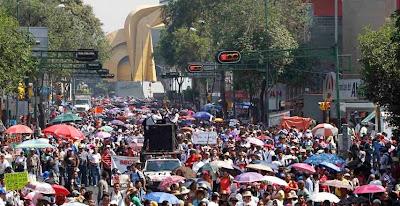 Movilizacion de la CETEG en Guerrero contra reforma educativa