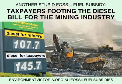 fossil fuel subsidy mean consumers pay more for fuel than mining companies do