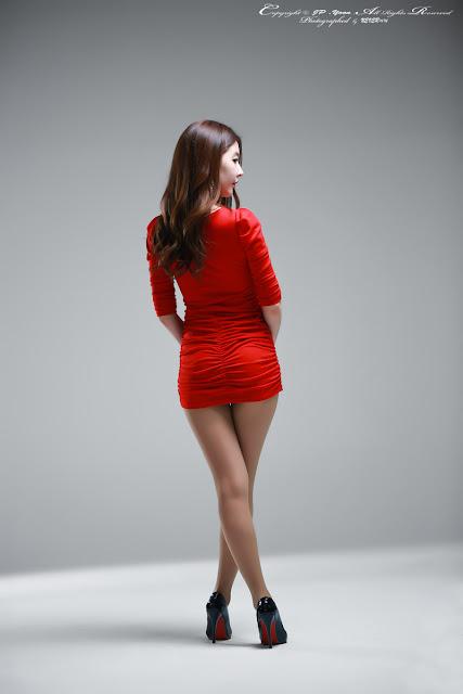 2 Hot Red - Kim Yoo Yeon - very cute asian girl - girlcute4u.blogspot.com