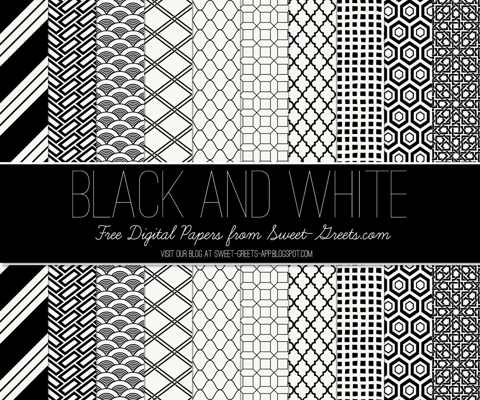 Free Black and White Digital Paper