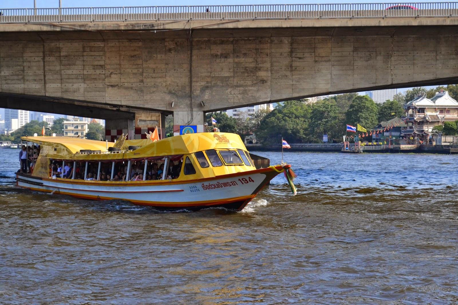 Chao Phraya, Bangkok, Thailande, Fleuve, voyage, bateau, bateau-taxi, navette,Chao Phraya Express Boat, express boat
