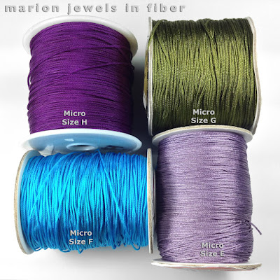 Chinese Knotting Cord Spools - Micro Sizes