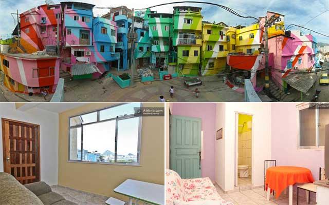 Favela colorata, camere in affitto