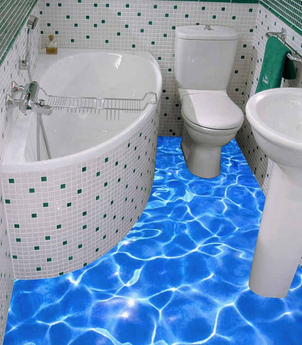 Attrayant Bathroom 3D Floor Designs