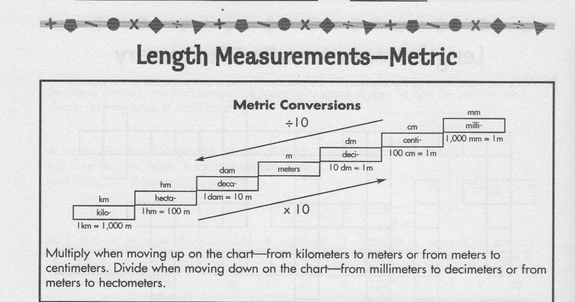 Metric System Conversion Answers