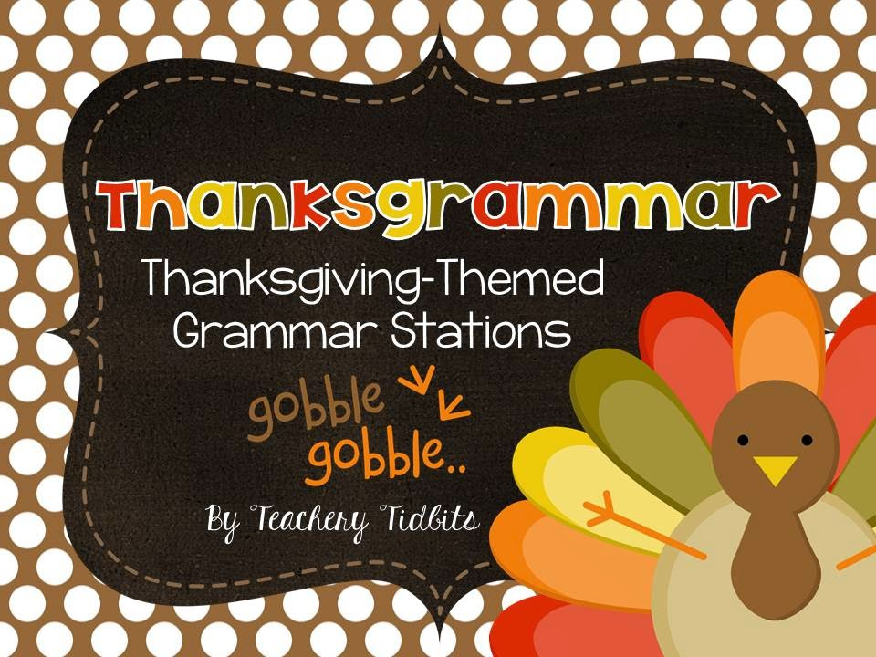 http://www.teacherspayteachers.com/Product/Thanksgrammar-Thanksgiving-Themed-Grammar-Stations-1564922