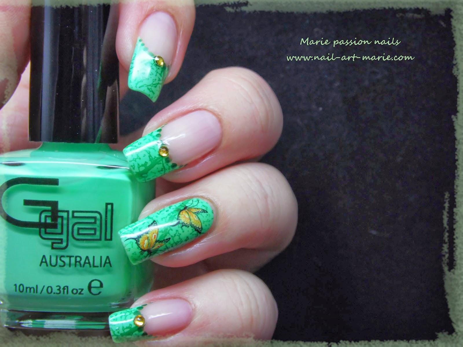 Nail art French nature5