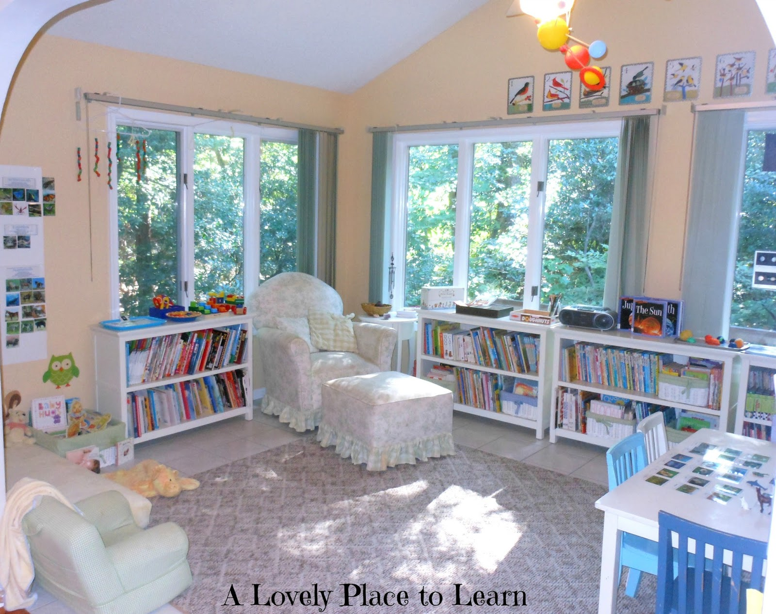 Natural Beach Living: Our Homeschool Room for 2013-