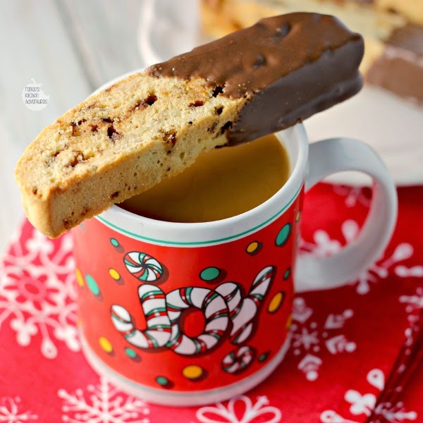 Almond Toffee Biscotti | Renee's Kitchen Adventures  Perfectly dunkable in a hot cup of coffee #McCafeMyWay #ad