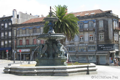 Lion Fountain in Oporto