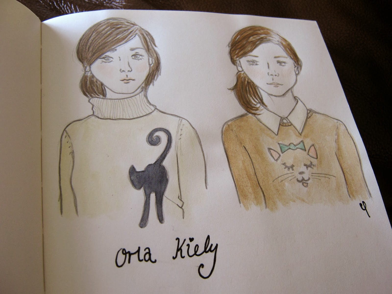 Orla Kiely Cat Jumpers Fashion Illustration