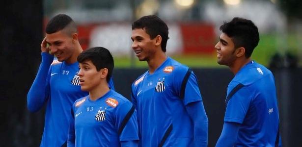 Alison, Lucas Otávio, Leandrinho e Gabigol