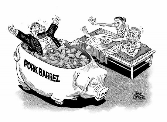 Pork barrel scam caricature