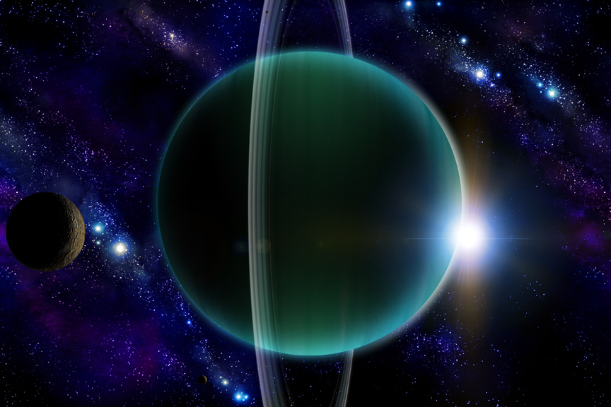 Uranus On Its Side Free Download Wallpaper