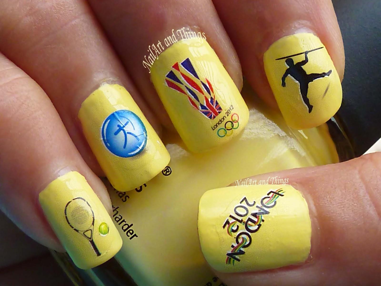 Nailart And Things Olympics Nail Art China Glaze Lemon Fizz
