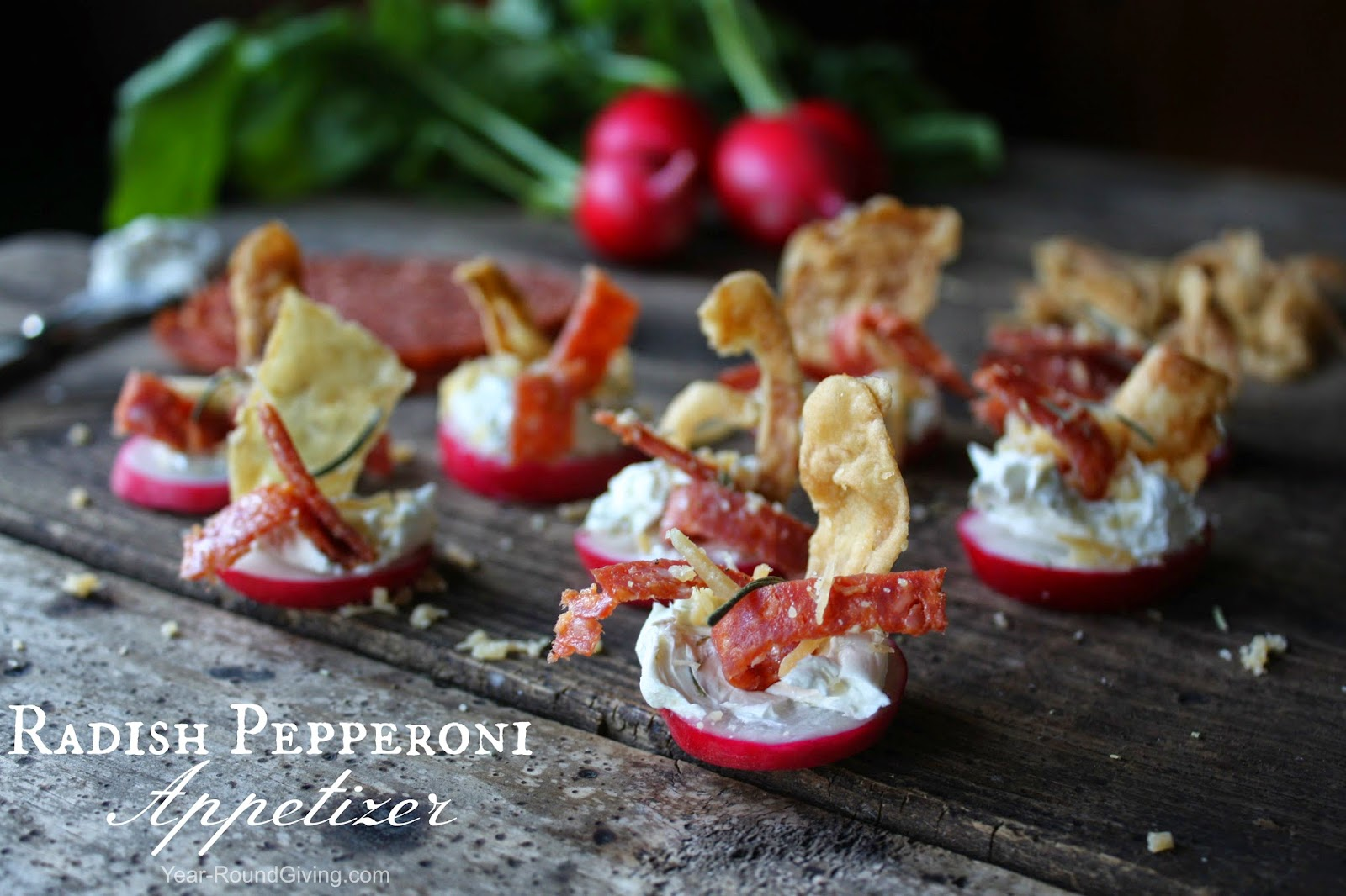 Radish Pepperoni Appetizers