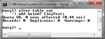 120 MySQL dengan menggunakan Command Prompt (CMD)