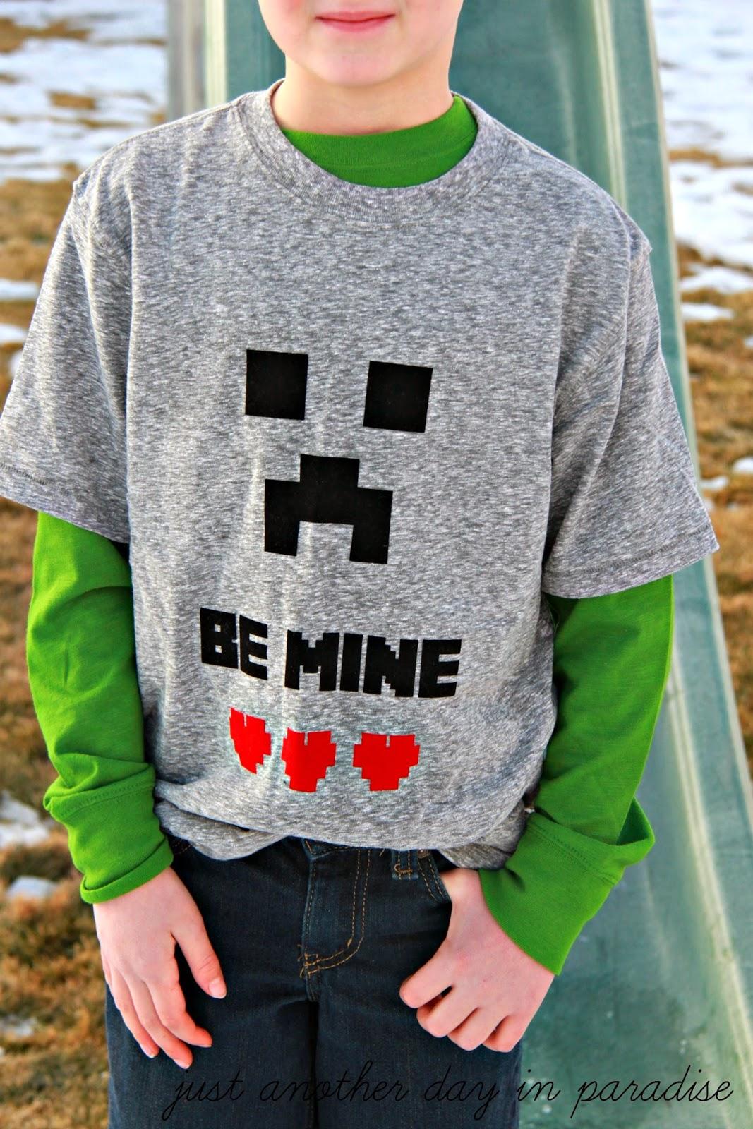 Minecraft Be Mine Creeper Shirt