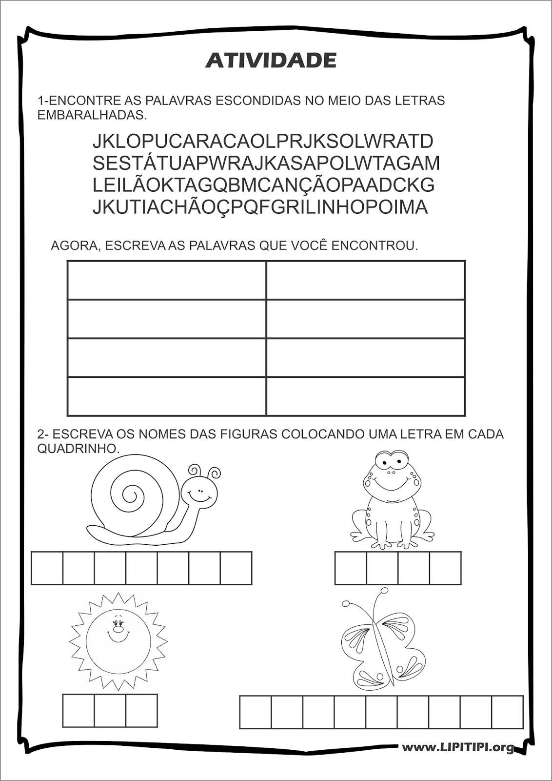atividades alfabetizacao jardim horta pomar:Atividades Consciência Fonológica Leilão de Jardim Cecília