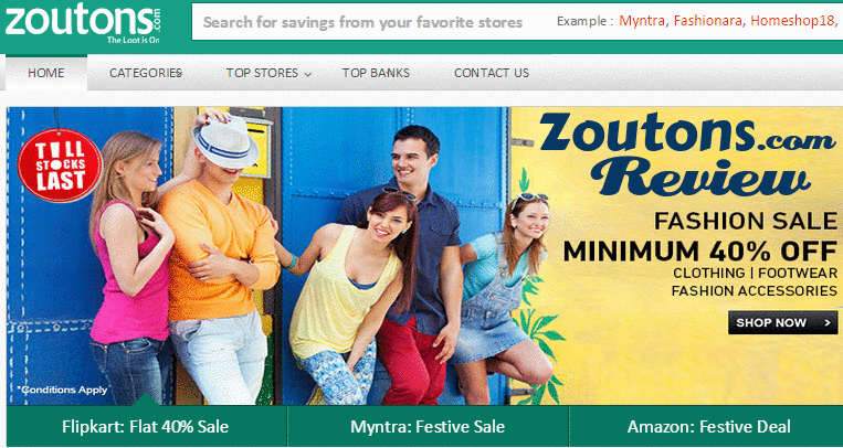 Zoutons Review: Find Online Shopping Coupons & Discounts