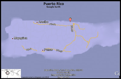 Mapa de Puerto Rico, Google Earth