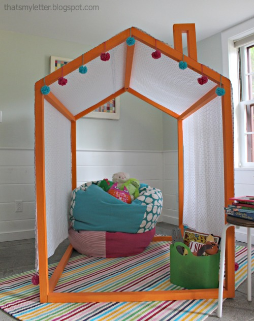 Ana white 2x2 indoor playhouse frame diy projects for House bed frame plans