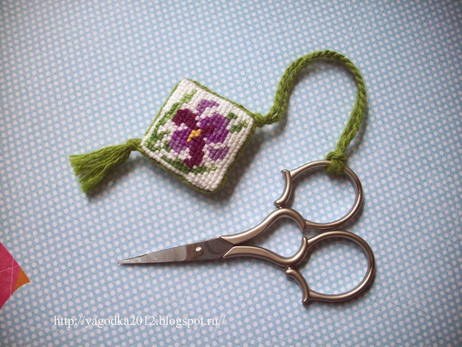 Маячок для ножниц: мастер-класс Крестик - Вышивка крестом и