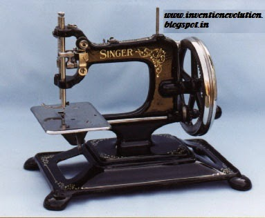 Evolution Of Inventions SEWING MACHINE Interesting Balthasar Krems Sewing Machine