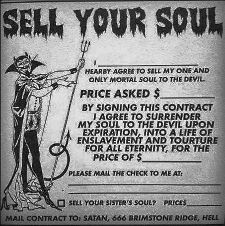 Funny sell your soul picture
