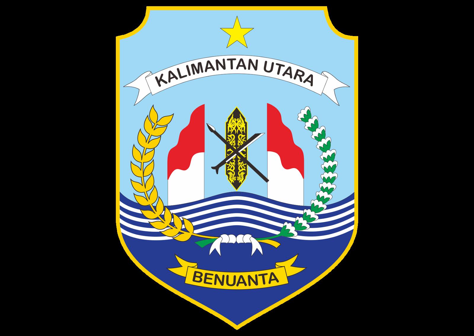 provinsi kalimantan utara logo vector format cdr ai eps