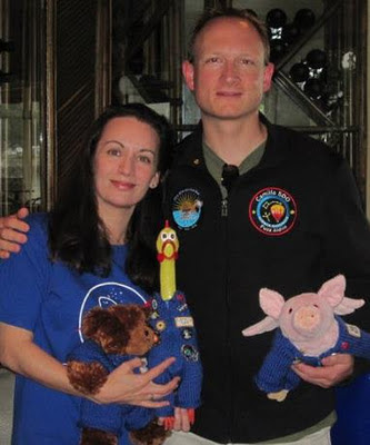NASA Mascots - Heather and Romeo with Fuzz Aldrin, Camilla Corona and Sky Bleu