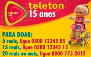 Faça sua Doação ao Teleton - Você pode Ajudar