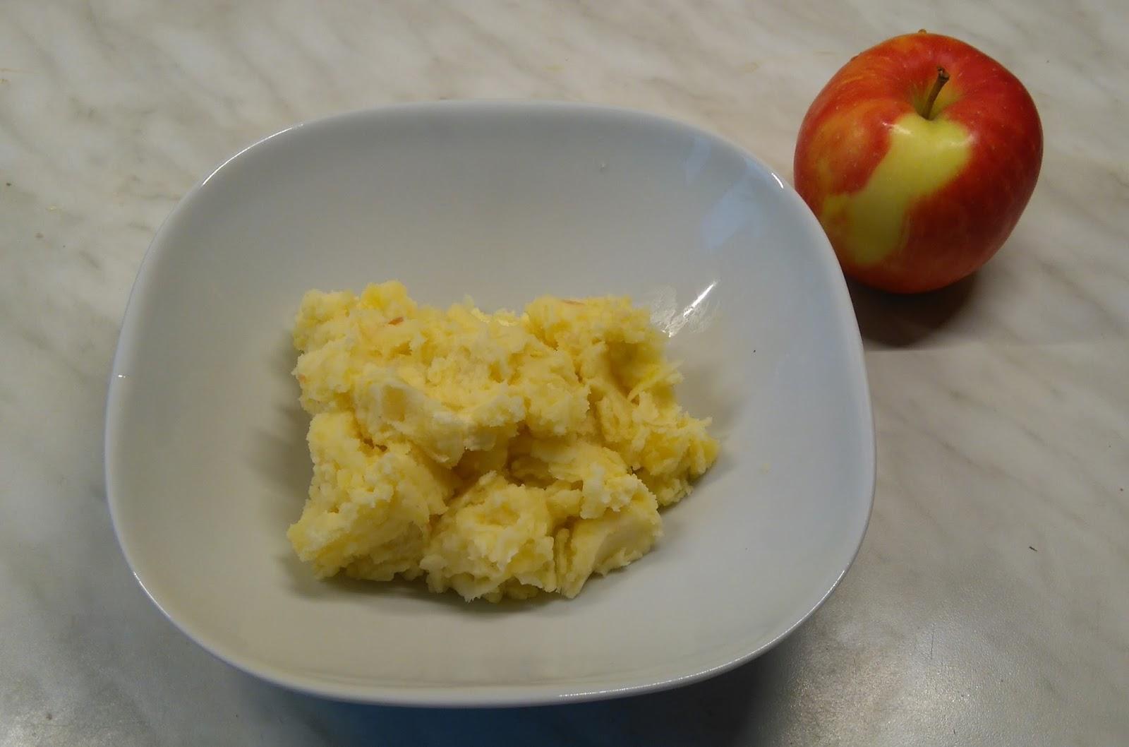 Kartoffelpüree mal anders, vegan, vegetarisch, mit Käse, Erdnussbutter, öl, Essig, Gemüse, Apfel