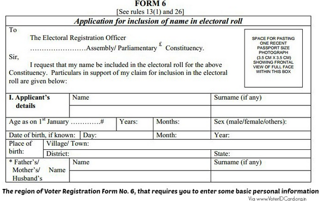 Voter Id Card ke liye Offline kaise apply Karen
