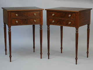 Nightstand handmade by Matthew Wolfe of Doucette and Wolfe Furniture Makers