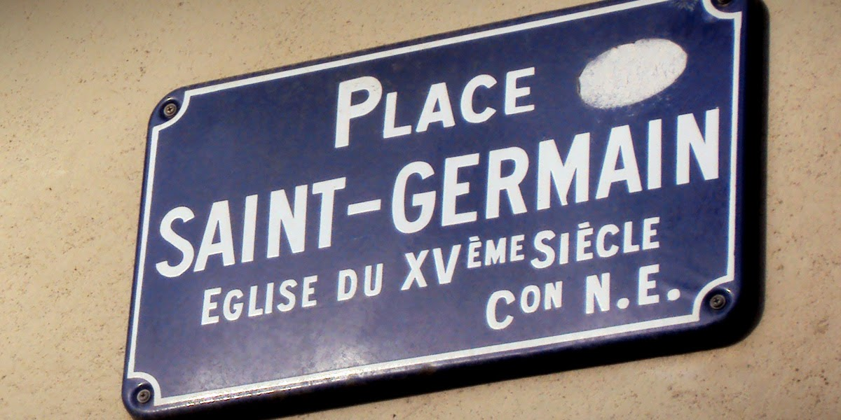 La plaque de rue la place Saint-Germain de Rennes