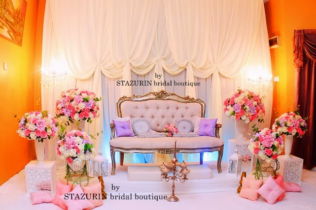 FULL Quality Artificial Flowers Decoration Wedding Theme English Vintage 2013 Koleksi Pelamin Moden Pastel Colour Konsep Tirai Eksklusif