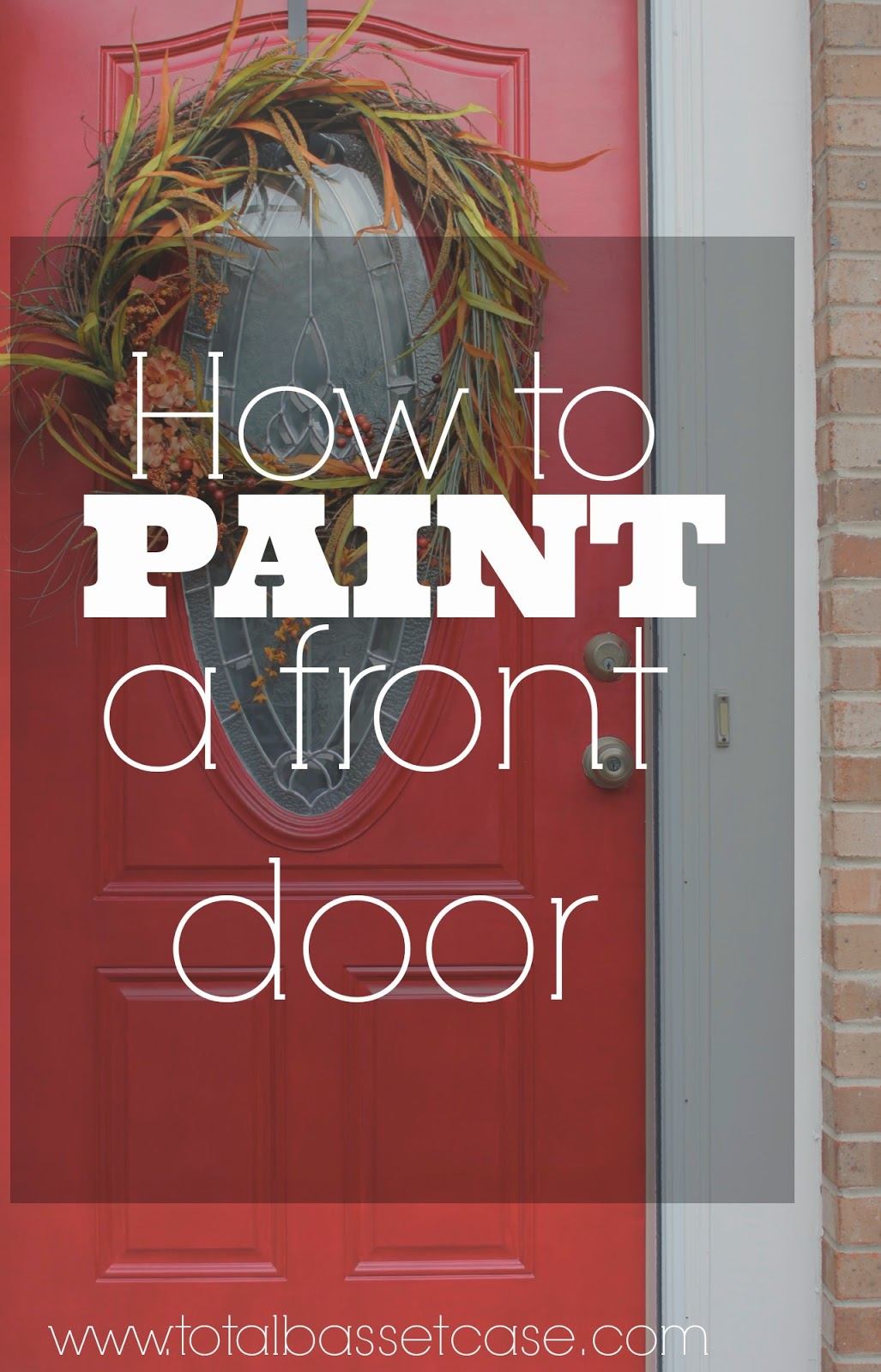 How To Paint A Front Door Total Basset Case Diy  How To Paint A Front Door In 5 Steps