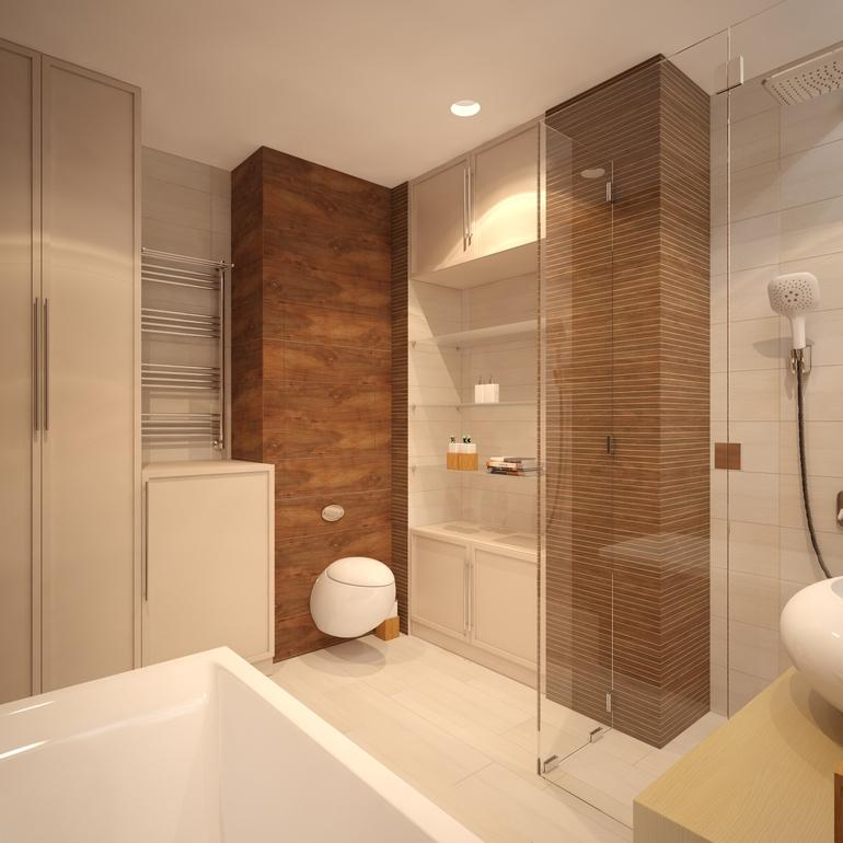 20 banheiros decorados com revestimento que imita madeira  Decor Alternativa -> Banheiro Moderno Madeira