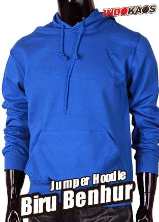 Jumper Hoodie Biru Benhur