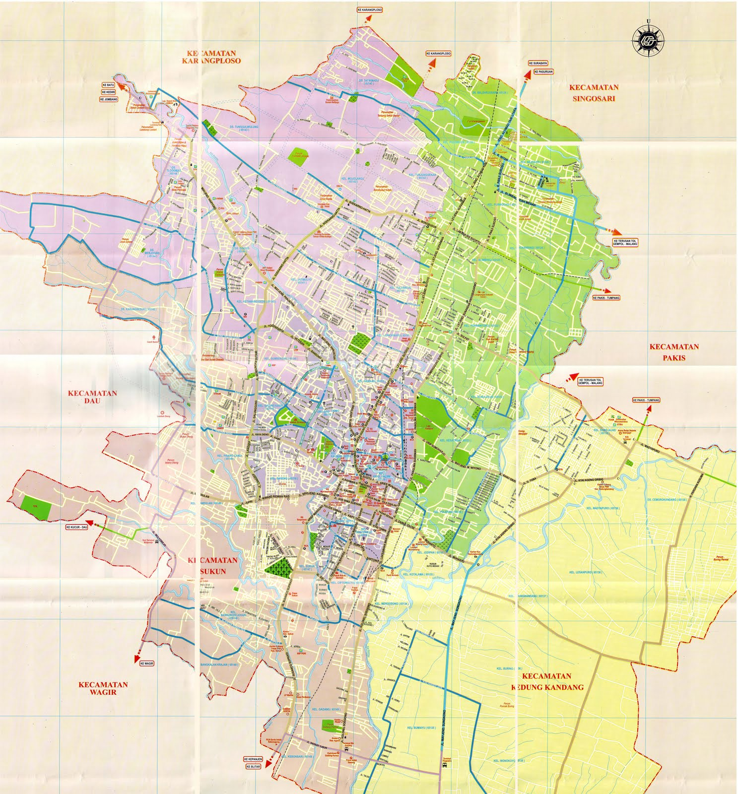 Peta Kota Malang
